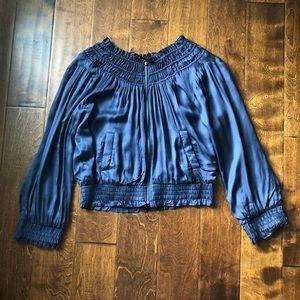 Love Sam | Alexa Blue Floral Embroidered Jacket